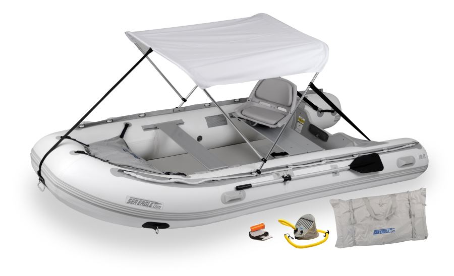 Sea Eagle 12.6SR Sport Runabout Dropstitch Swivel Seat & Canopy Package