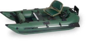 Sea Eagle 285FPB Frameless Pontoon Boat Pro Package Green