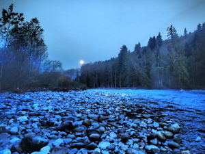 Early Morning Moon - Chilliwack River
