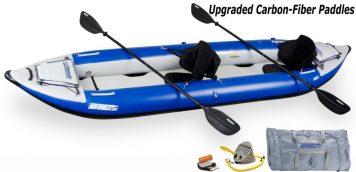 Sea Eagle 420X Explorer Kayak Pro Carbon Package
